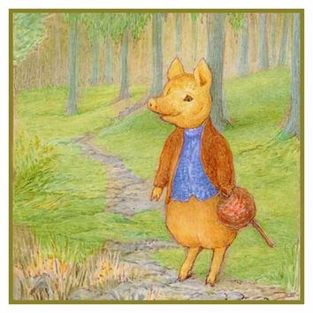 Tale of Piggy Bland inspired by Beatrix Potter Counted Cross Stitch or Counted Needlepoint Pattern