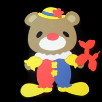 Teddy Bear Clown Card, Kids Cards, Teddy Bear Cards, Bears, Cards for Children