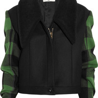 Stella McCartney | Enid faux shearling and wool plaid jacket | NET-A-PORTER.COM