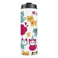 Funny Cats Thermal Tumbler