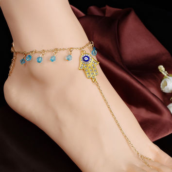 Shiny Gift Stylish Jewelry Cute New Arrival Ladies Sexy Accessory Hot Sale Crystal Tassels Anklet [8527532615]