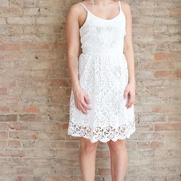 Bianca Lace Dress - white