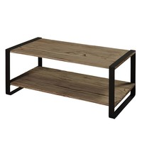 Style Craft Metal and Reclaimed Wood Coffee Table