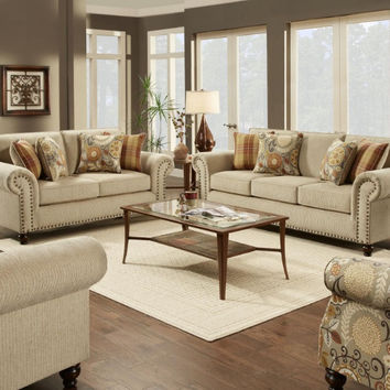 Out West Linen Sofa and Loveseat
