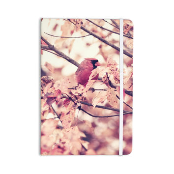 "Qing Ji ""Angry Bird in Fall Leaves"" Orange Nature Everything Notebook"