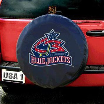 Columbus Blue Jackets NHL Spare Tire Cover (Standard) (Black) Discontinued
