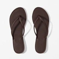 Womens Faux Leather Flip Flops | Womens Shoes | Abercrombie.com
