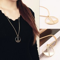 New Arrival Shiny Gift Jewelry Accessory Stylish Simple Design Necklace [7271815431]