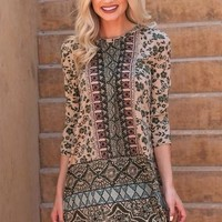 Angie Jersey Girl Dress- Olive