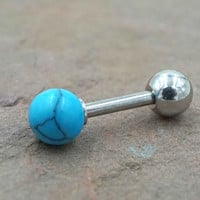 Turquoise 16g Cartilage Earring Tragus Helix