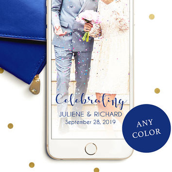 Wedding Snapchat Geofilter-Personalized Snapchat Filter for Wedding-Chic Calligraphy Snapchat Filter-Elegant Wedding Geofilter-Custom Filter