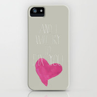 Fix You, Coldplay iPhone Case by gabsnisen