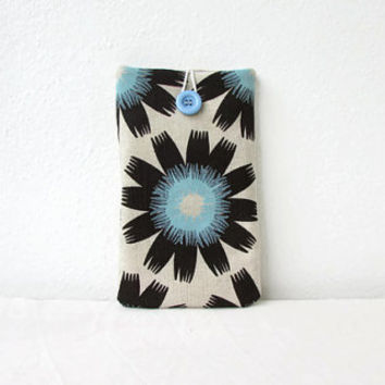 7 inch tablet case, Fabric tablet cover, kindle sleeve, hand printed fabric, nexus 7, kindle fire, Samsung Galaxy Tab 7, handmade in the UK