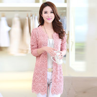 2016 Fashion Woman Knitted Long Cardigan Women Sweater Coat Women Spring cardigan