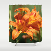 Lilies Come Lately Shower Curtain by Theresa Campbell D'August Art