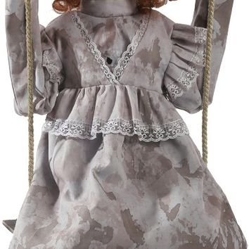 halloween prop: swinging decrepit doll animate