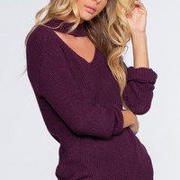 Bonfire Babe Sweater - Plum
