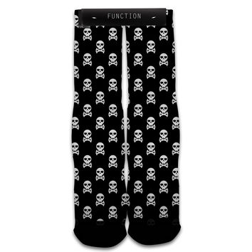 Function - Skull And Crossbones All Over Print Sock