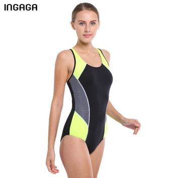 INGAGA One Piece Swimsuit 2017 Competition Swimwear Women's Swimsuit Sports Professional Swimming Backless Bathing Suits