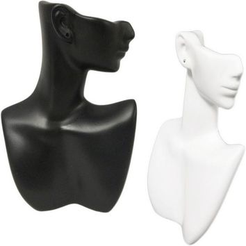 DS-184 Self-Standing Abstract Jewelry Display Bust with Pierced Ear