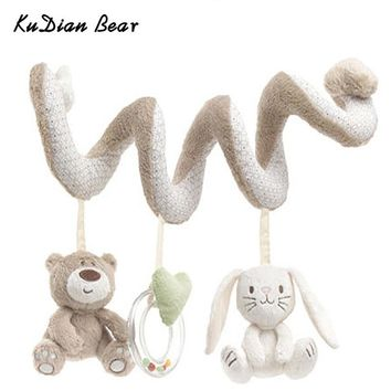 Baby Toys Mobile Educational Musical Toy Newborn Plush Rattles Playing On The Crib Hanging Bell Toys For Children - BYC148 PT49