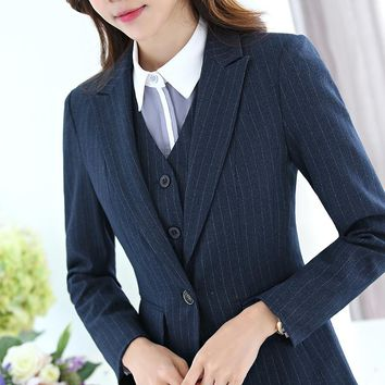 Women Work Office Long Sleeve Blazer  Casual Coat jaqueta feminina Lady Business Outwear Plaid Casaco feminino Jacket 2017 New