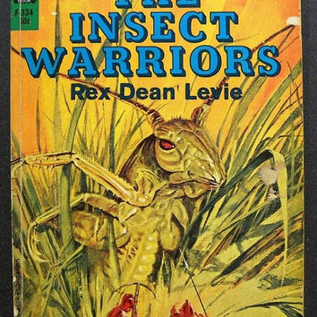Vintage 1960s Science Fiction Novel / The Insect Warriors / Rex Dean Levie / Vintage Book /  60s Paperback / Vintage Sci Fi Book /