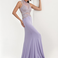 Jasz Couture 5621 Illusion Beaded Bodice Formal Prom Dress
