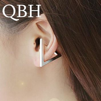 EK632 Fashion New Bijoux Brincos Geometric Triangle Ear Clip Ear Cuff Earrings For Women Jewelry Gifts Orecchini Pendientes