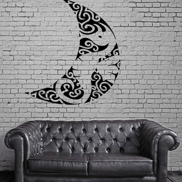 Sea Horse Moon Ocean Sea Marine Animal Art Decor Wall Mural Vinyl Sticker Unique Gift M447