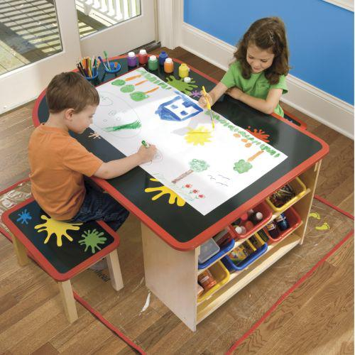 Kids arts crafts table from for Craft tables for kids