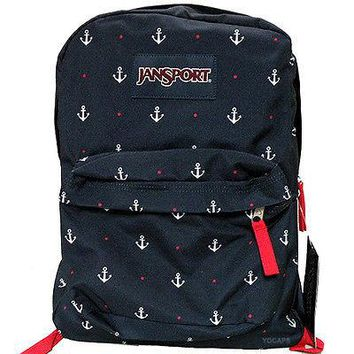 JanSport Classic SUPERBREAK BACKPACK - RED TAPE / LAND AHOY