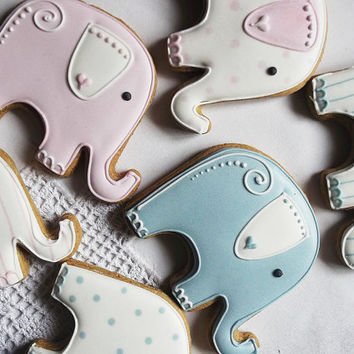10 Elephant Baby Shower Biscuit