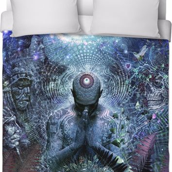 Gratitude For The Earth And Sky - Duvet Bed Cover