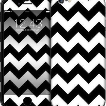 Black And White Chevron Stripe iPhone Cases & Skins by Kelly Cavender | Nuvango