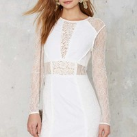 Lace but Not Least Mini Dress - White