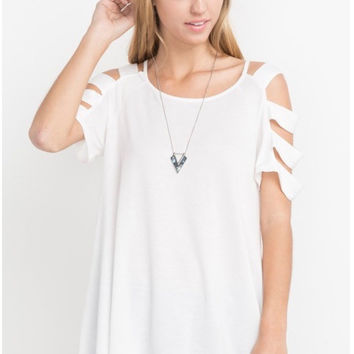 Laila Ladder Sleeve Top