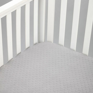 Charcoal Minky Fitted Crib Sheet