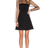 Red Valentino Jersey Dress in Nero