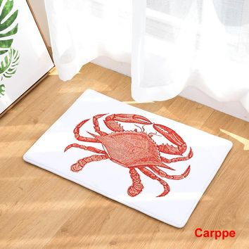 2017 New Home Decor Marine Animals Crab Turtle Carpets Non-slip Kitchen Rugs for Home Living Room Floor Mats 40X60 50X80cm