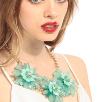Mint Bouquets Necklace Set