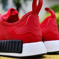 """ADIDAS"" Women Running Sport Casual NMD Shoes Sneakers Red G-MDTY-SHINING"
