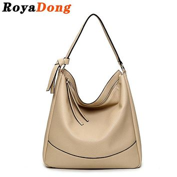 RoyaDong Women's Shoulder Bags Women Handbags Vintage Pu Leather Hobos Bag Ladies Design  2017 High Quality