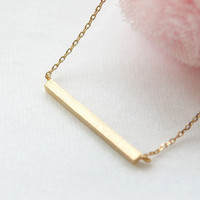 Golden Bar Necklace