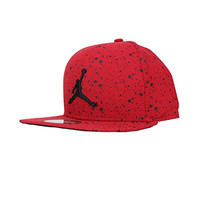 Nike Mens Jordan Speckle Print Snapback Hat Gym Red/Black 821830-687