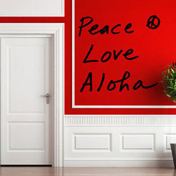 Aloha quote wall sticker quote decal wall art decor 4604