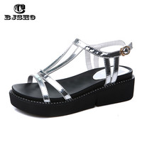 CBJSHO 2017 Summer Sandals For Women Fashion Wedges Women's Open Toe Ladies Platform Sandals Thick Heel Shoes Flip Flops Woman