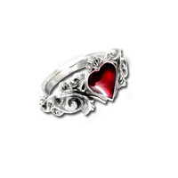 Betrothal Heart Ring - Alchemy Gothic Rings