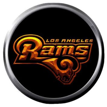 NFL Superbowl LA Rams Fire Football Fan 18MM-20MM Snap Jewelry Charm New Item