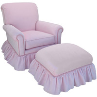 Angel Song 204721153Foam Classic Velvet Pink Adult Regent Rocker Glider